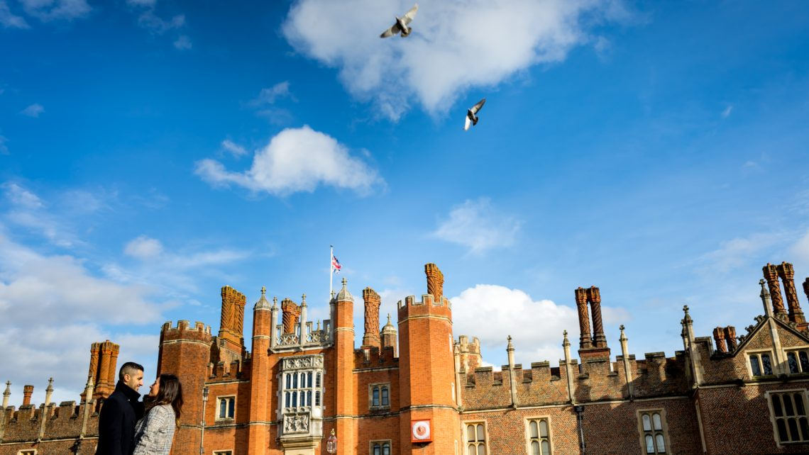 Hampton Court Palace engagement shoot