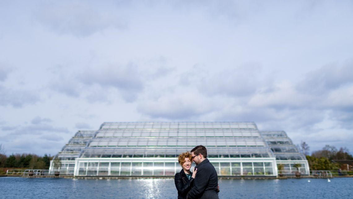 RHS Wisley pre wedding photo shoot surrey